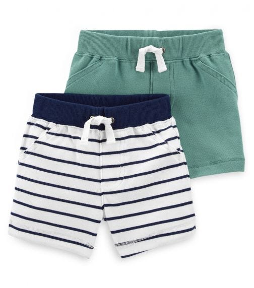 CARTER'S 2-Pack Pull-On Cotton Shorts