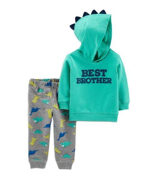 CARTER'S 2-Piece Best Brother Hoodie & Dinosaur