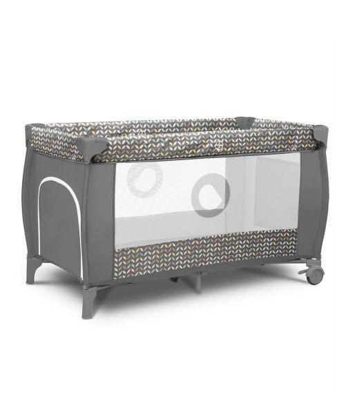 LIONELO Sven Plus 2-In-1 Travel Bed Playpen - Grey