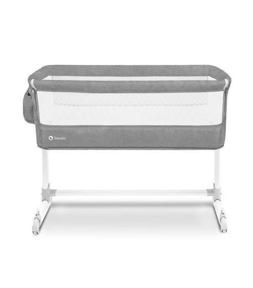 LIONELO Theo Adjustable Bedside Cot - Light Grey