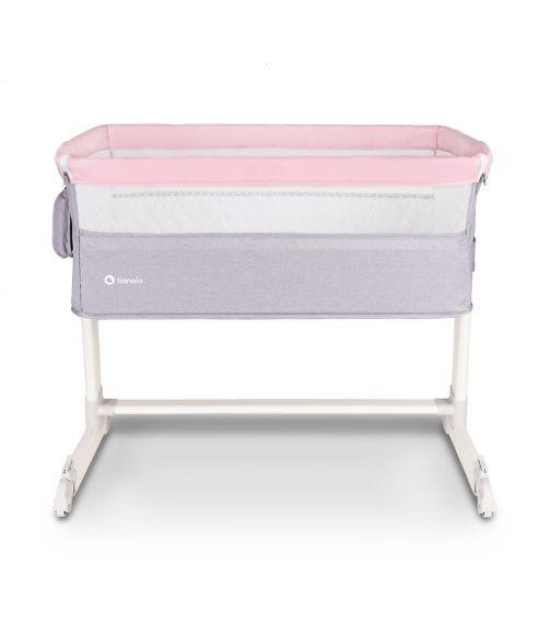 LIONELO Theo Adjustable Bedside Cot - Magnolia Pink