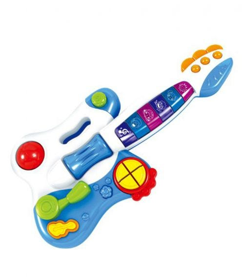 HUANGER Baby Guitar With Music And Light - Chargable