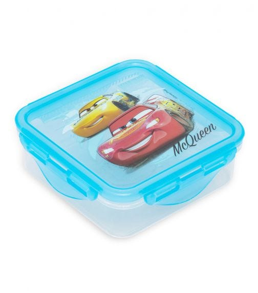 CARS  Square Hermetic Food Container 500 ML