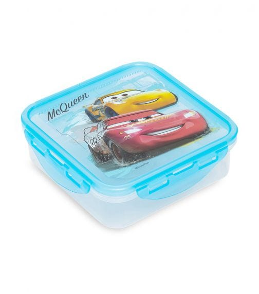 CARS  Square Hermetic Food Container 750 ML