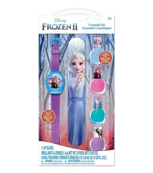 FROZEN 2 Cosmetic Set with Nail Polish, Nail File and Lip Gloss Watch