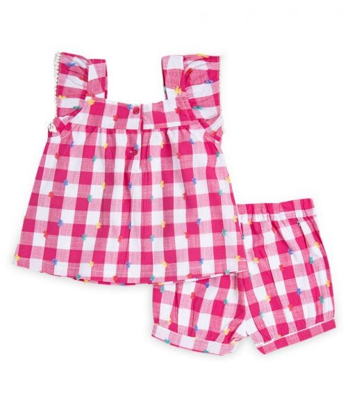 LITTLE ME Gingham Woven Play Set