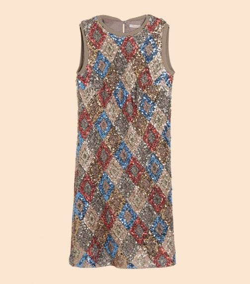 CHOUPETTE Multicolor Sequins Dress