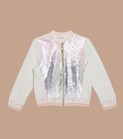 CHOUPETTE Sequins Combined Bomber - Jacket