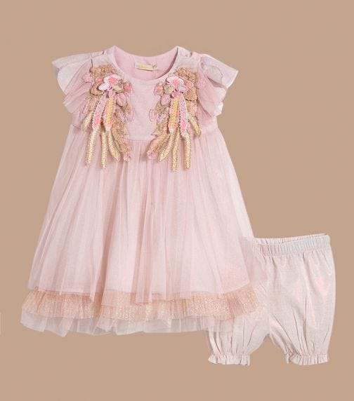 CHOUPETTE Set (Decorated Wings Dress And Shorts)
