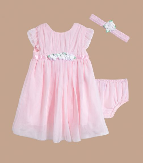LITTLE ME Pink Tulle Dress