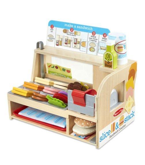 MELISSA&DOUG Slice & Stack Sandwich Counter