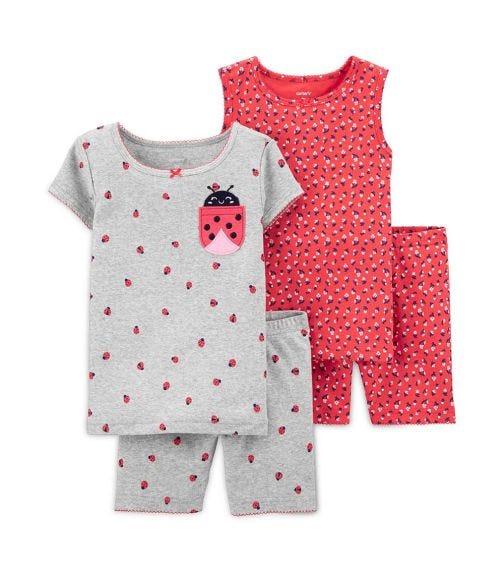 CARTER'S 4-Piece Ladybug Snug Fit Cotton PJs