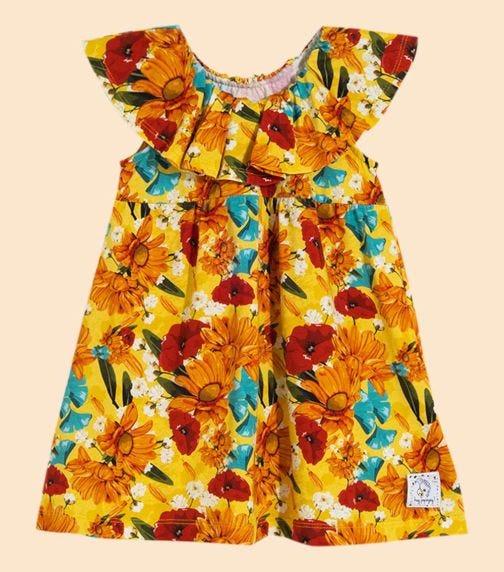 HEY POPINJAY Yellow Meadow Macarena Dress