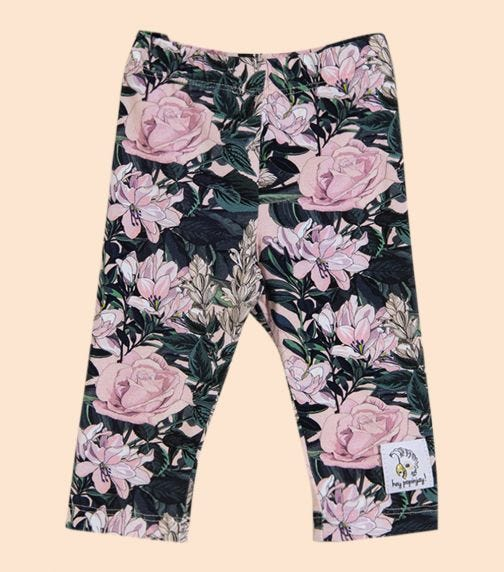 HEY POPINJAY Roses By Aleosa Leggings