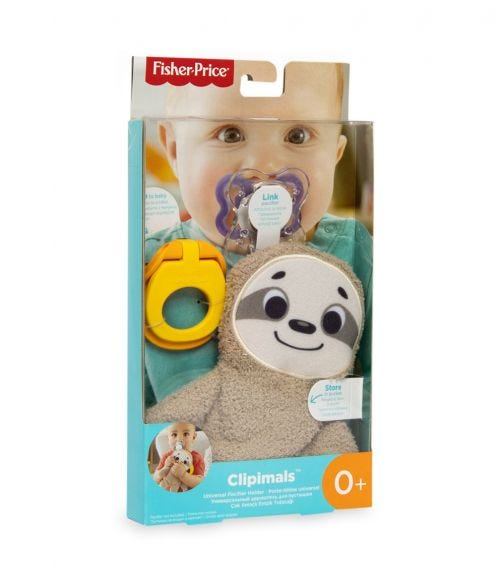 FISHER PRICE Clipimals Universal Pacifier Holder - Sloth