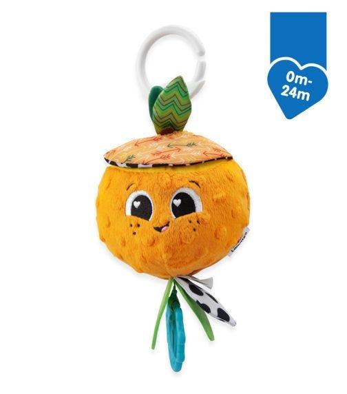 LAMAZE Clip & Go Sensory Toy - Olive The Orange (0-24M)