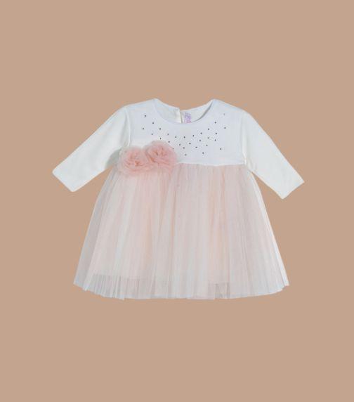 SOFIJA Pink &White Tulle Dress With Diamonds