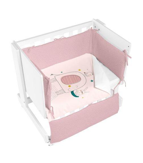 BIMBIDREAMS Pink Elefante Co-Sleeping Cradle