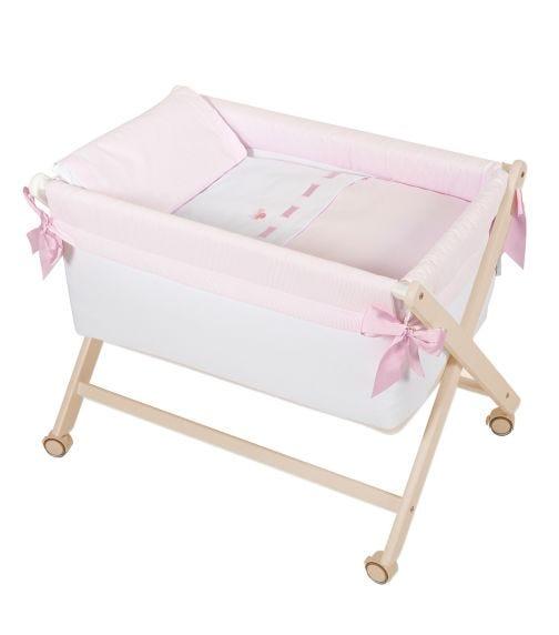 BIMBIDREAMS Pink Suiza Foldable Cradle