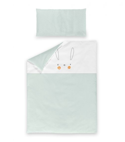 BIMBIDREAMS Conejito Green Nordic Pillowcase