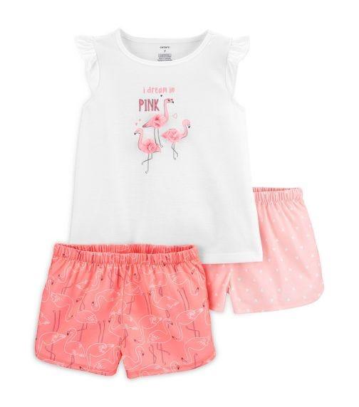 CARTER'S 3-Piece Flamingo Poly PJs