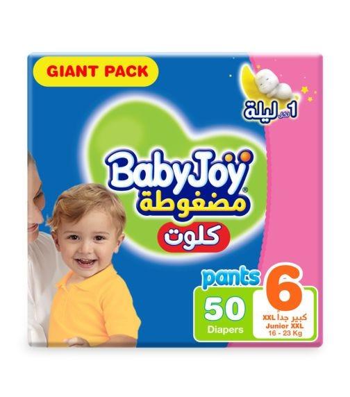 BABYJOY Cullotte Pants Diaper, Giant Pack Junior XXL Size 6, Count 50, 16 - 23 KG