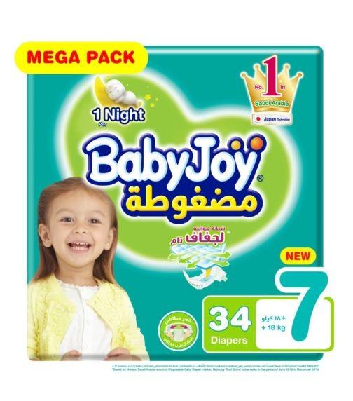 BABYJOY Diapers Mega Pack XXXL Pack Of 34