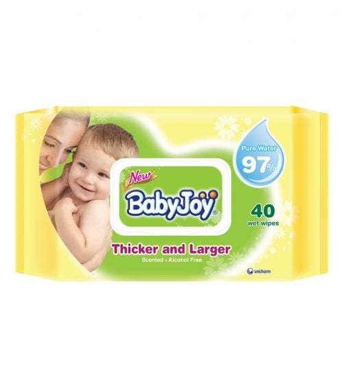 BABYJOY Thick And Larger Wet Wipes Regular Pack - 40 Wipes