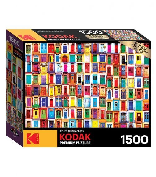 CRA-Z-ART Kodak 1500 Pieces Puzzle - Collage Of Ancient Colorful Doors From Around The World
