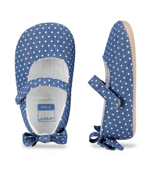 CARTER'S Mary Jane Baby Shoes- Blue