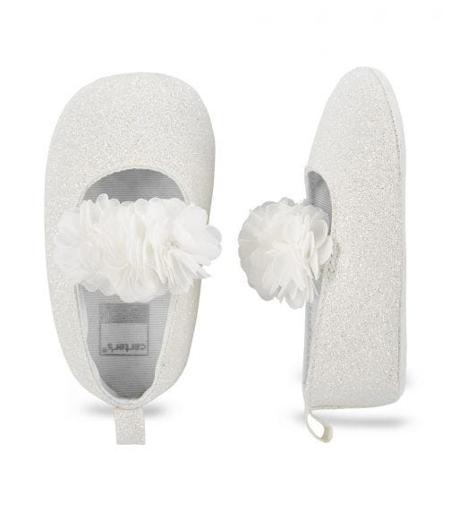 CARTER'S Mary Jane Baby Shoes- White
