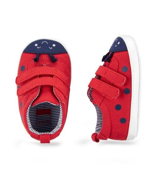 CARTER'S Ladybug Baby Shoes