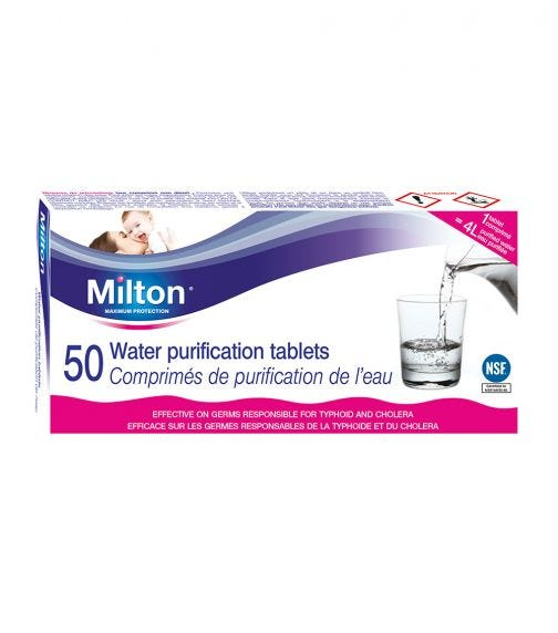 MILTON Water Purification Tablets (50 Pieces)