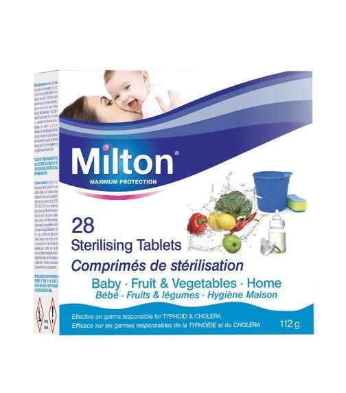 MILTON Sterilising Tablets Fruit &Vegetables (28 Pieces)