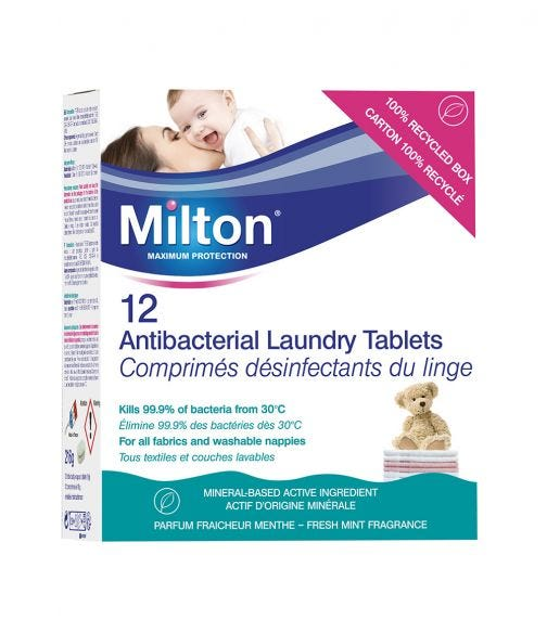 MILTON Anti-Bacterial Laundry Tablets (12 Pieces)