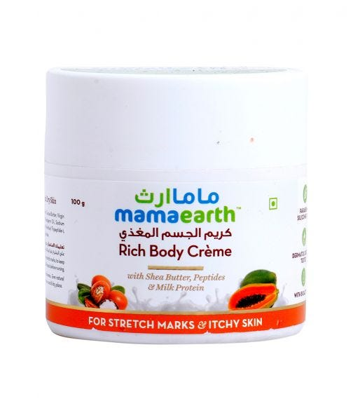 MAMAEARTH Body Cream For Stretch Marks And Itchy Skin 100 GM