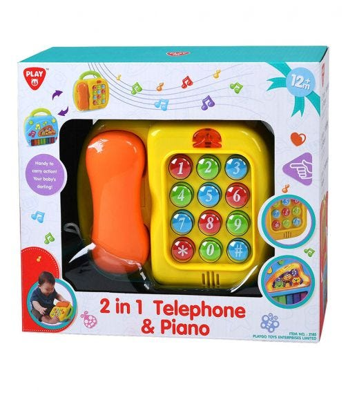 PLAYGO 2-In-1 Telephone & Piano (Battery Operated)