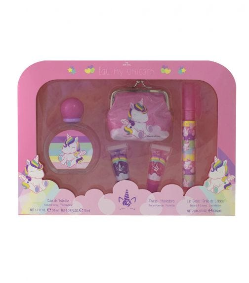 AIRVAL Eau My Unicorn Set EDT 50 ML + Purse + Perfume Pen + Lipgloss