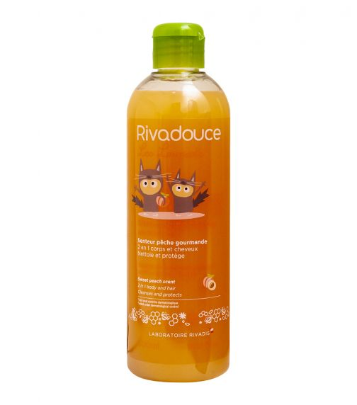 RIVADOUCE Rivadouce Shampoo And Shower Gel With Organic Honey - Peach 500 ML